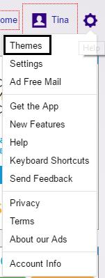 Yahoo theme option